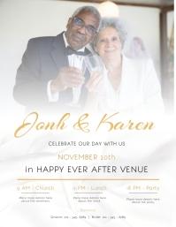Wedding Event Invitation Flyer template