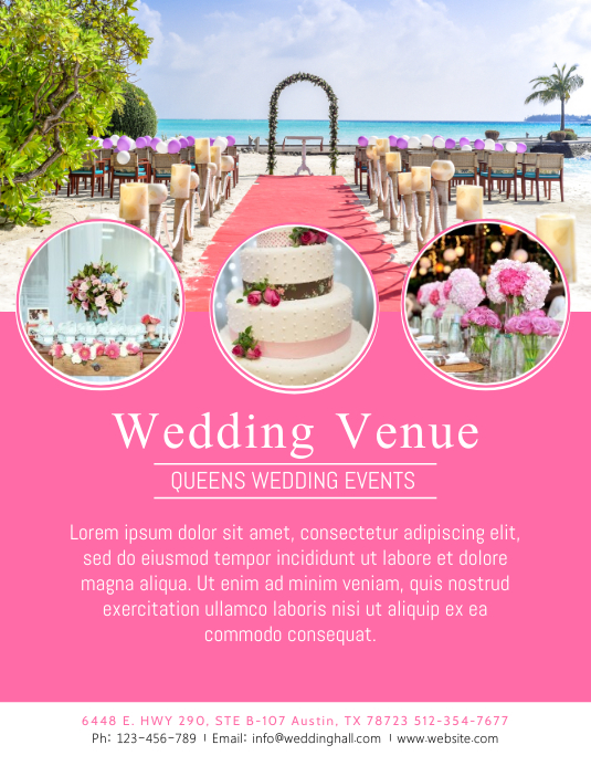 Wedding Event Venue Flyer Template Folder (US Letter)