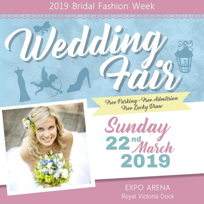 Wedding Fair Bridal Fashion Week Instagram Post template