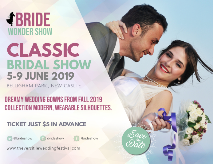 Wedding Fair Bridal Show Landscape Flyer Pamflet (Letter AS) template