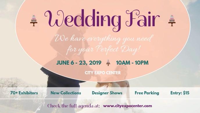 Wedding Fair Facebook Cover Video template