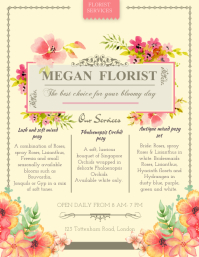 Wedding Florist Packages flyer Template
