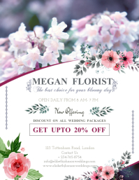 Wedding Florists Promotion Flyer Template