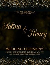 Wedding Flyer, Wedding Invite Flyer, wedding template