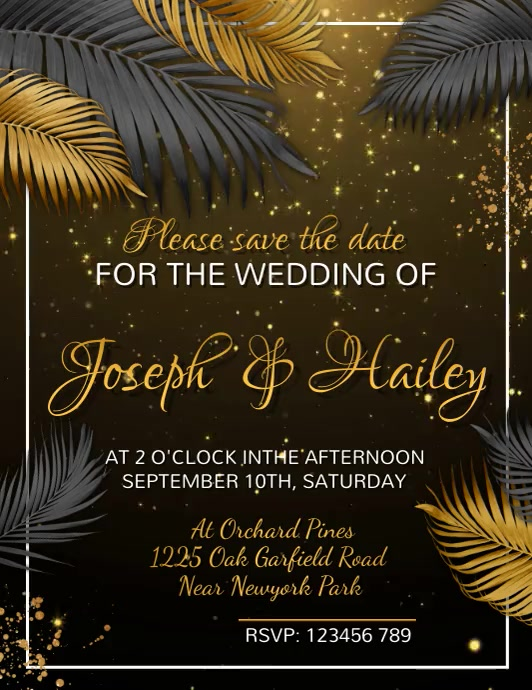 Wedding Flyer, Wedding Invite Flyer Volante (Carta US) template