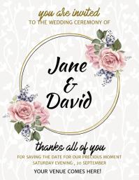 Wedding Flyer, Wedding Invite Flyer