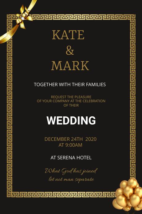 Wedding flyer Plakat template
