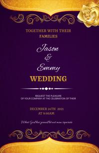 Wedding flyer Tabloid template