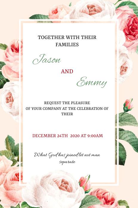 Wedding flyer โปสเตอร์ template