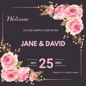 wedding flyer Publicação no Instagram template