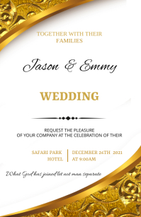 Wedding flyer Tabloide template