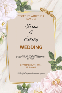 Wedding flyer Affiche template