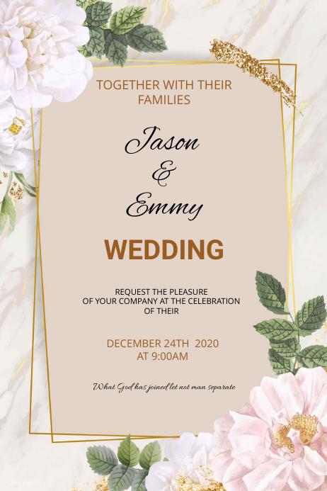 Wedding flyer Poster template