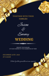 Wedding flyer Tabloid template