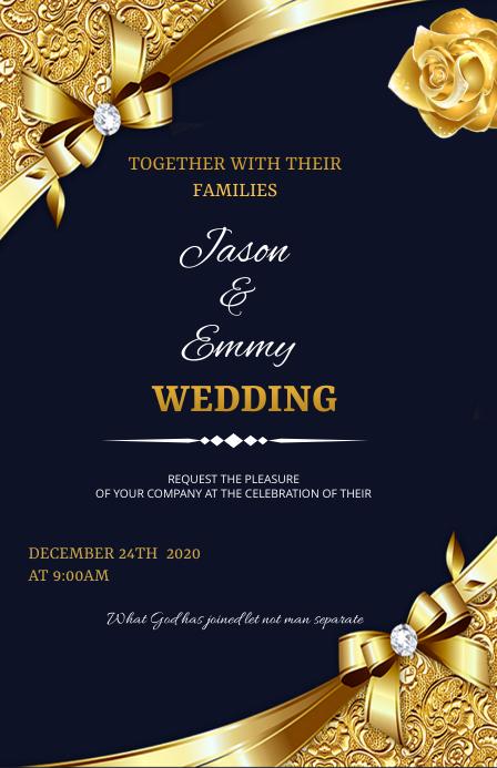 Wedding flyer Tabloïd template