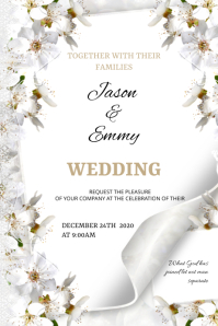 Wedding flyer Poster template
