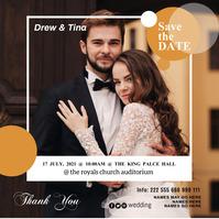 Wedding flyer poster 专辑封面 template