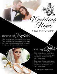 wedding Folheto (US Letter) template