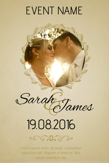 wedding flyer template