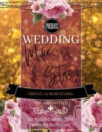 WEDDING Flyer Template DIGITAL VIDEO