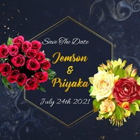 Wedding flyers Сообщение Instagram template