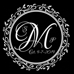 WEDDING GOBO LOGO template