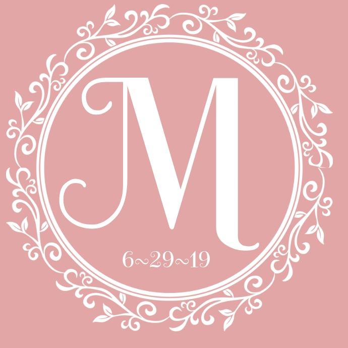Wedding Gobo Logo Monogram Initials