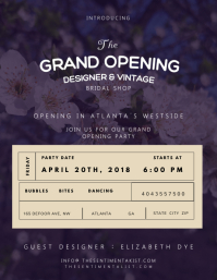 Wedding Grand Opening Flyer Template