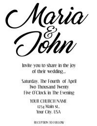 Wedding Invitation (Blank)