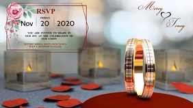 WEDDING INVITATION AD TEMPLATE Digital Display (16:9)