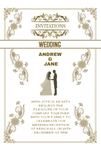 Wedding invitation anniversary card