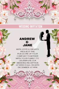 Wedding invitation anniversary card
