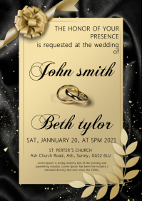wedding invitation card A4 template