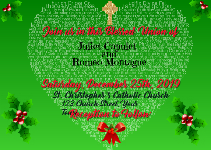 Wedding Invitation Christian Christmas