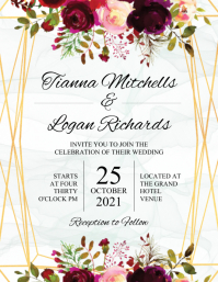 Wedding Invitation Flyer (US Letter) template