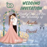 Wedding Invitation Pos Instagram template
