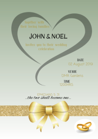 Wedding invitation A6 template