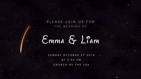 Wedding Invitation งานแสดงผลงานแบบดิจิทัล (16:9) template