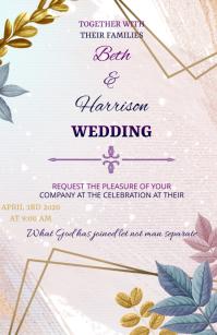 WEDDING INVITATION Tabloid template