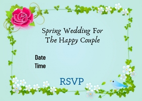 Wedding Invitation Postal template