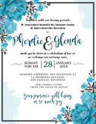Wedding Invitation Flyer (US Letter) template