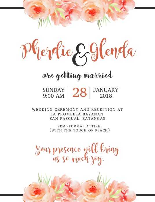 Wedding Invitation Template PosterMyWall