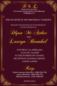 wedding invitation Poster template