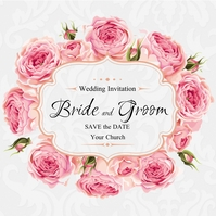 Wedding Invitation Instagram Post template
