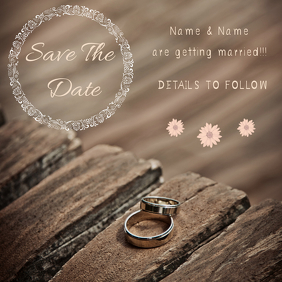 WEDDING INVITATION ปกอัลบั้ม template