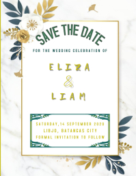 WEDDING INVITATION Ulotka (US Letter) template