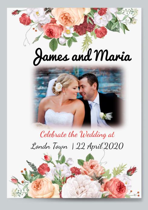 Wedding Invitation Design A4 template