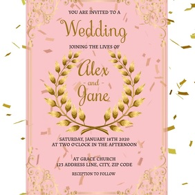 Wedding Invitation digital video Template