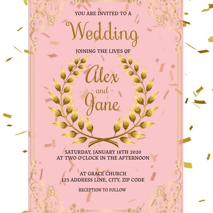 Wedding Invitation digital video Template โพสต์บน Instagram