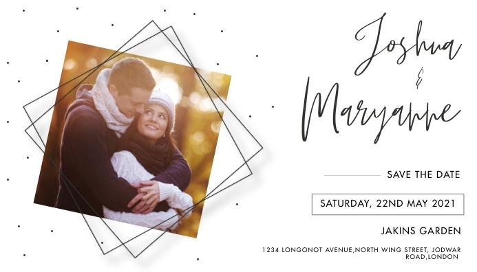 WEDDING INVITATION FLYER Business Card template